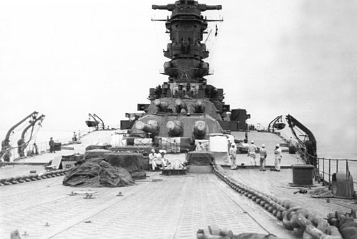 Musashi battleship in 1942