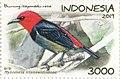 Myzomela irianawidodoae 2019 stamp of Indonesia.jpg