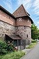 Nürnberg, Stadtbefestigung, Frauentormauer, Mauerturm Rotes O 20170616 002.jpg
