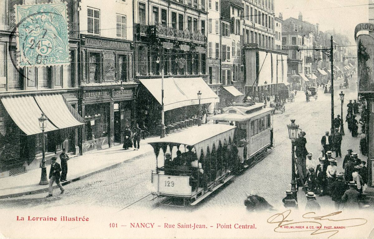 Ancien Tramway De Nancy Wikip 233 Dia