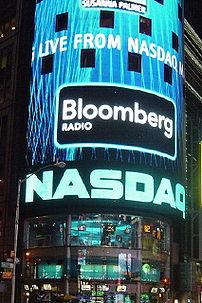 NASDAQ in Times Square, New York City.
