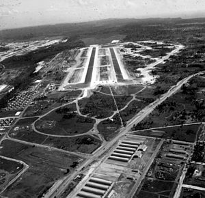 Naval Air Station Agana - NAS Agana in January 1945.