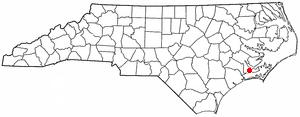 Havelock, North Carolina - Image: NC Map doton Havelock