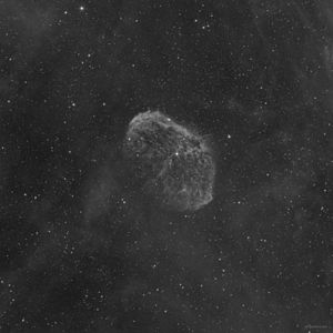 H-alpha - Amateur image of NGC 6888 using H-alpha (3nm) filter.