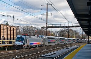 Northeast Corridor Line - A Northeast Corridor Line train at Metropark station