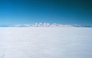 Royal Society Range - View of the Royal Society Range from the Ross Sea
