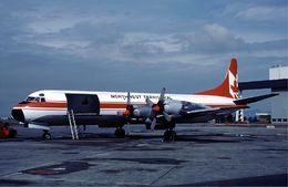 NWT Air Lockheed Electra at Vancouver Airport in August 1983.jpg