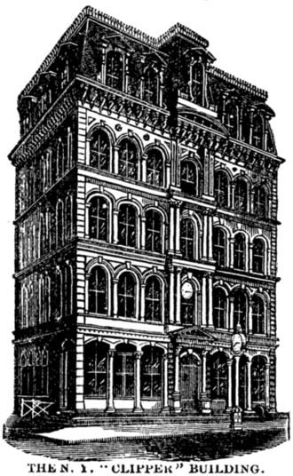 New York Clipper - New York Clipper building, 1876
