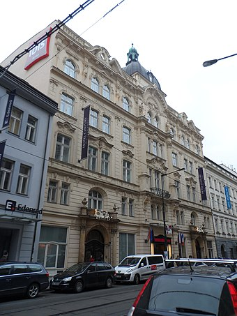 Former home of the Worker's Accident Insurance Institute Na Porici 7, Prague.JPG