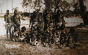 Nanya - The Nanya family, shorting after their capture in 1894