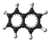 Ball-and-stick model of naphthalene