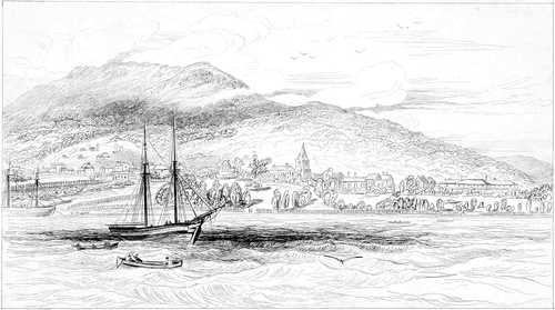 Narrative of a Visit to the Australian Colonies - Hobart Town, 1834.png