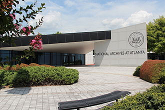 National Archives facilities - The National Archives at Atlanta facility in Morrow, Georgia