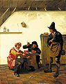 Natus, Johannes - Peasants smoking and making music in an inn.jpg