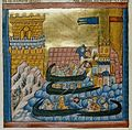 Naval battle between the fleets of Crete and Athens - Li livre des ansienes estoires (c.1285), f.136v - BL Add MS 15268.jpg