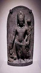 Stele with Avalokiteshvara holding a lotus