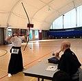 Neville Browning training for third dan in Kyudo.jpg