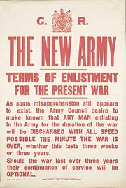 New Army Terms of Enlistment poster Aug 1914 IWM