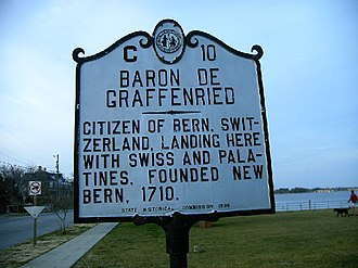 New Bern, North Carolina - Baron de Graffenried Marker (2007)