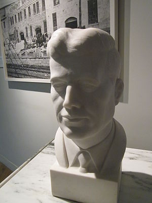 Vermont Marble Museum - Marble bust of President John F. Kennedy