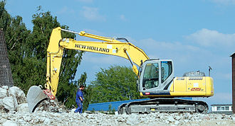 New Holland Construction - A New Holland excavator E 215B, upgrade of the previous version E 215.