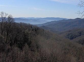 Oconaluftee (Great Smoky Mountains) - Deep Creek Valley, part of the Oconaluftee watershed