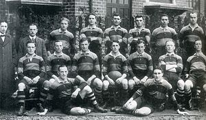 Billy Geen - The Newport team that defeated South Africa in 1912. Billy Geen is the first player on the left of the back row.