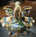 Ngv, maiolica di urbino, bottega di fontana, vaso di dafne e apollo, di salmace e ermafrodito, 1565 circa 03.JPG