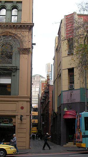 Niagara Lane, Melbourne - Niagara lane looking south from Lonsdale street.