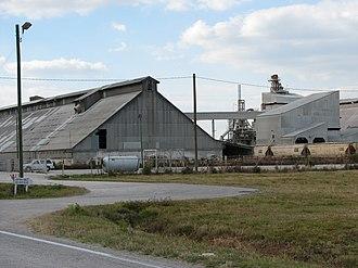 Bone Valley - Phosphate fertilizer processing plant -- Nichols, Florida.
