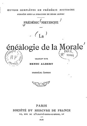 Généalogie de la morale.