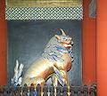 Nikko Toshogu Outer Gate Lion M3055.jpg