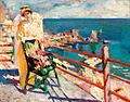 Nilus A girl on a terrace overlooking the sea .jpg