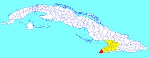 Niquero - Image: Niquero (Cuban municipal map)