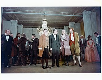1776 (musical) - President Richard Nixon with the cast of 1776 after a performance in the East Room of the White House