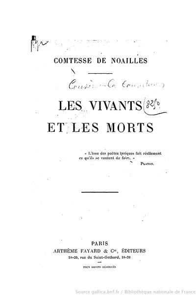 File:Noailles - Les Vivants et les Morts, 1913.djvu