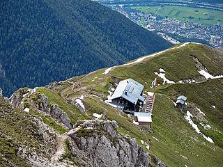 Nördlinger Hut building in Tyrol, Austria