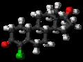 Norclostebol molecule ball.png