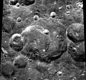 Perrine (crater) - Clementine mosaic