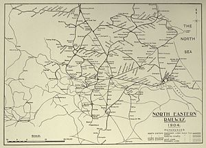 Gilling and Pickering line - North Eastern Railway map (south)