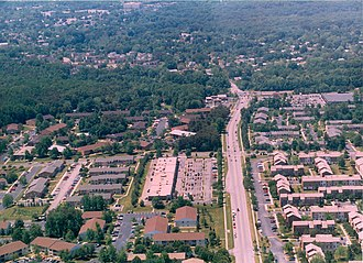 North Laurel, Maryland - North Laurel's All Saints Road and Whiskey Bottom Apartments in August 1998