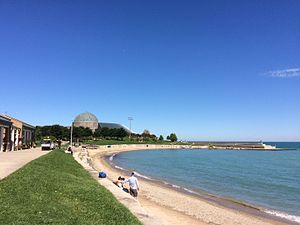 Northerly Island - Image: Northerly Island Beach Chicago, Illinois