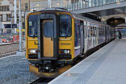 Northern Rail Class 155, 155343, platform 1, Manchester Victoria railway station (geograph 4500518).jpg