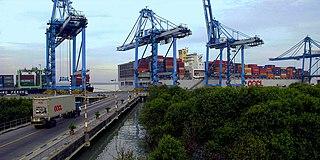 Port Klang Town in Selangor, Malaysia