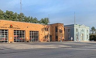 Norton, Massachusetts - Norton Fire Department and Town Hall