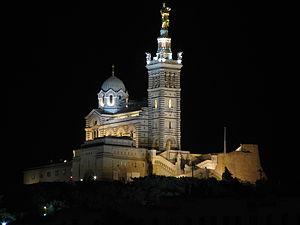 1er apéro seo à Marseille - Notre-Dame de la Garde de nuit