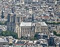 Notre Dame Cathedral from the Tour Montparnasse, Paris May 2014 (cropped).jpg