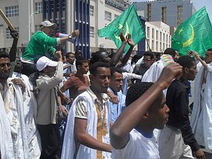 2011–12 Mauritanian protests - Mauritanian youth protesters in Nouakchott on 25 April 2011