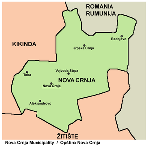 Nova Crnja - Map of Nova Crnja municipality