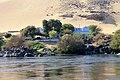 Nubian houses in the bank of River Nile Aswan , Egypt.JPG